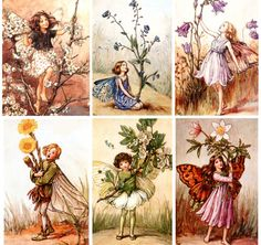 These are the originals, have been a fan since I was a wee little girl...  Garden Fairies by Cicely Mary Baker