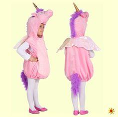 Rosa Einhorn, Märchen Kostüm, Gr. 104 Karneval, Fasching Kinder-Kostüme