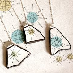 broken plate pendants. Awesome idea for my grandma's old lot of dishes. A gift for all of the grand kids.