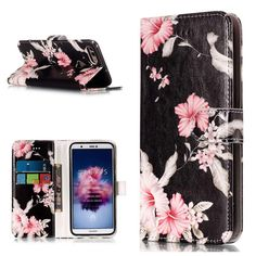 Amazon.com: MGVV [Huawei P Smart], Huawei P Smart Wallet Case, Folding Flip Case with Card Holders & Wrist Strap, Folder Stand Folio Case Cover for Huawei P Smart Flower: Gateway