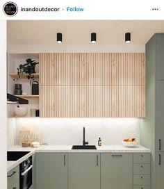 Minimal Kitchen Design, Minimalist Kitchen, Interior Design Kitchen, Home Decor Kitchen, Kitchen Furniture, Home Kitchens, Knoxhult Ikea, Casa Milano, Open Plan Kitchen Dining Living