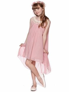 Dusty Rose Elegant  Empire Waist Chiffon Dress