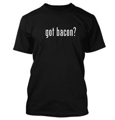 got bacon? Funny Adult Mens T-Shirt Black Large