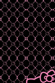 Pink and Black iPhone Wallpaper | Hello Kitty Black iPhone 640x960