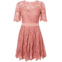 GET DRESSED UP - Pink Lace Dress for Wedding/Bridesmaids by ModeMusthaves.com