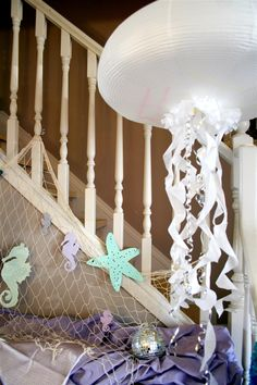 paper jellyfish party decoration by denna's ideas