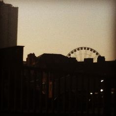 Big wheel sunset from the Northern Quarter