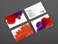 Business cards and brand identity designed by Kurppa Hosk and developed by Bunch for fixed cost international mobile data service Fogg.