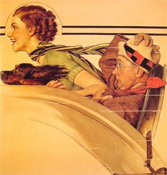 Couple in Rumble Seat, 1935.
