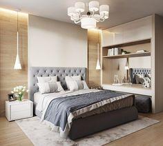 20 Trendy Home Office Quarto Casal Grande Master Bedroom Interior, Small Master Bedroom, Bedroom Red, Modern Bedroom Design, Home Room Design, Master Bedroom Design, Home Interior, Home Bedroom, Bedroom Decor