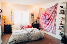 ☾☽ Lady Scorpio ☆ @LadyScorpio101 LadyScorpio101.com ✦ Pink Bohemian Bedroom Decor Indian Tapestry, Bohemian Bedroom Decor, Dream Bedroom, Scorpio, Room Inspiration, Beautiful Homes, Sweet Home, Future, Lady
