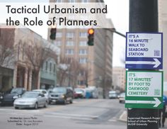 Planner's Guide to Tactical Urbanism