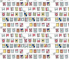 Beyond the Sea: Nautical Flags fabric by threeyellowplums on Spoonflower - custom fabric