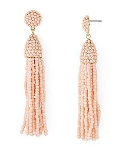 Baublebar puts a colorful spin on vintage-inspired tassel earrings with kaleidoscopic beads. Rose Gold Earrings, Star Earrings, Tassel Earrings, Drop Earrings, Best Places In Portugal, Boho Jewelry, Jewelry Accessories, French Beauty Secrets, Dollhouse Accessories