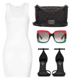 """""""Untitled #2593"""" by dreamfashion4ever ❤ liked on Polyvore featuring American Vintage, Chanel, Gucci and Yves Saint Laurent"""