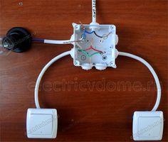 Basic Electrical Wiring, Electrical Circuit Diagram, Electrical Layout, Electrical Projects, Electrical Installation, Electrical Engineering, Diy Electronics, Electronics Projects, Electronic Circuit Design