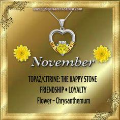 Zodiac and Birth Month | November Profile