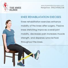 Knee rehabilitation Exercise Visit us: http://www.kneeandjointsurgery.com/ and call us on: 9923406258