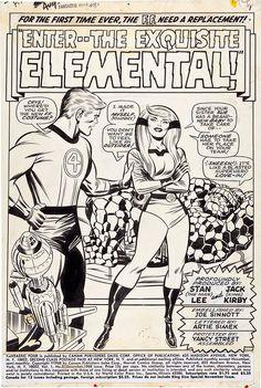 Splash page from FANTASTIC FOUR #81 by Jack Kirby and Joe Sinnott