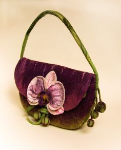 "Felt bag ""Orchid"" - pinned by pin4etsy.com"