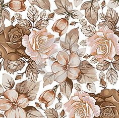 Illustration about Flowers. Beautiful background with a flower ornament. Illustration of greens, beautiful, antique - 38141225 Scrapbook Background, Background Vintage, Background Patterns, Textured Background, Floral Vintage, Vintage Flowers, Flower Images, Flower Art, Desenho Pop Art