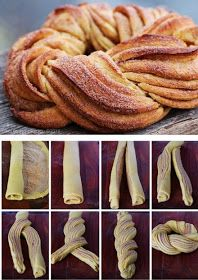 Homestead Survival: Braided Cinnamon Wreath Recipe and Method I'd only try it with my mom's cinnamon roll recipe! Braided Cinnamon Wreath Recipe and Technique, Nice For Christmas Morning - Thehomesteadsurvival Braided Cinnamon Wreath Recipe - gonna make t Cinnamon Wreath Recipe, Breakfast Recipes, Dessert Recipes, Breakfast Ideas, Breakfast Casserole, Breakfast Bake, Breakfast Croissant, Baking Desserts, Breakfast Muffins