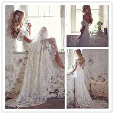 Cheap Wedding Dresses, Buy Directly from China Suppliers:    2015 Boho Lace Wedding Dress Bohemian Beach Wedding Gown Romantic Backless Long Bride Dresses Mariage Vestido De Noi