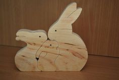 Holz Puzzle Holzpuzzle Holz Hase puzzle von CarpathiansWood auf Etsy