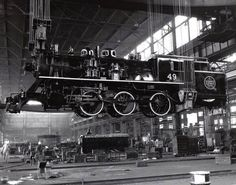 steam engine erecting shop | ... erecting shop. The last steam locomotive outshopped August 23, 1957