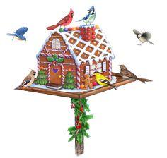 Feestdagen-Tubes: Kerst Vogelhuisjes(44)
