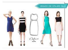 vestido corte alto Cortes y formas de vestidos más usadas en confección