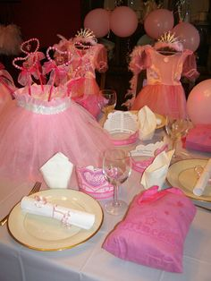 Princess Party #princess #party. Decorate with pink, tutu, tulle, ballerina, princess and everything girly.