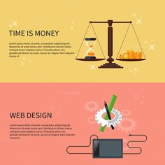 Time is Money and Web Design by robuart on Creative Market