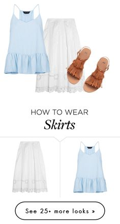 """Embroidered Skirt"" by sillycatgrl on Polyvore featuring Temperley London, H&M and New Look"