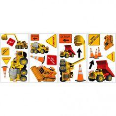 Under Construction - Construction Trucks Wall Stickers Mega Pack Construction Signs, Under Construction, Construction Bedroom, Mega Pack, Vinyl Wall Decals, Big Wall Stickers, Boy Room, Decoration, Playroom
