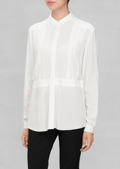 & Other Stories   Pleat-Detail Blouse