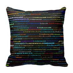 Lindenwold Text Design I Throw Pillow