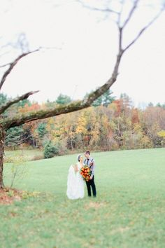 Traditional Fall Massachusetts Wedding | Photos by Megan Haley