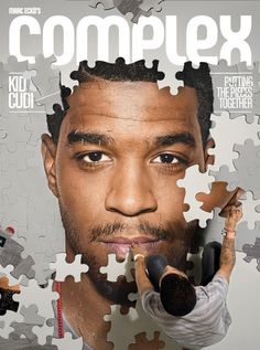 Complex Magazine is known for their creative Cover artwork so we were excited to see the new October/November Cover which features Kid Cudi. Magazine Design, Cool Magazine, Media Magazine, Design Brochure, Flyer Design, Puzzle Design, Nottingham, Magazine Front Cover, Magazin Covers