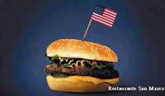 Hamburguesas Icono de la Comida Americana