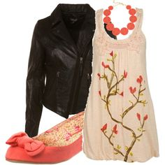 Nature and Leather, created by olivevia.polyvore.com