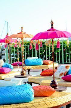Lounge seating for a sangeet or mehndi night