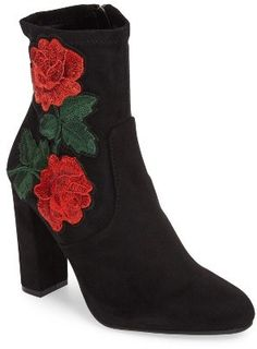 Women's Steve Madden Edition Embroidered Bootie