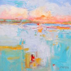 """""""Sunset Blues"""" in oil by Denise Zompa - Bristol"""