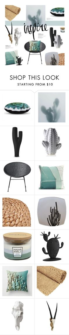 """""""Cactus inspiration"""" by magdafunk ❤ liked on Polyvore featuring interior, interiors, interior design, home, home decor, interior decorating, Dot & Bo, Holly's House, Serralunga and Bloomingville"""