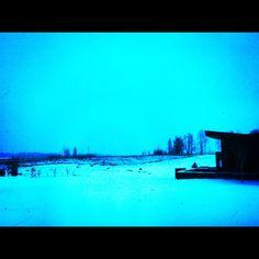 Blue Snow Falls Wyoming