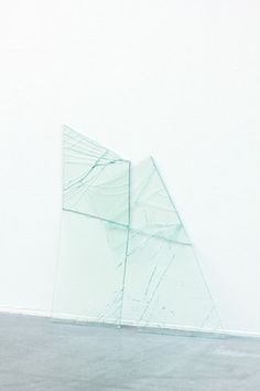 Johan Eldrot Untitled, a part of Gestures, Dialogues Series, 2011, laminated glass