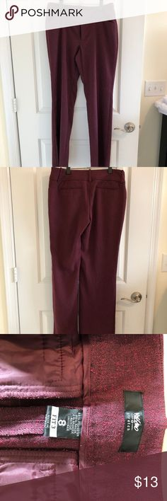 Mossimo Burgundy Stretch Pants Mossimo Burgundy Stretch Pants Mossimo Supply Co. Pants Trousers