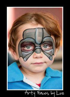 DIY Darth Vader Face Paint. @Melissa Squires Squires Squires Squires McSorley