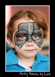 DIY Darth Vader Face Paint. @Melissa Squires Squires Squires Squires Squires McSorley